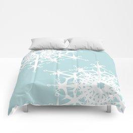 Christmas snowflakes . Comforters