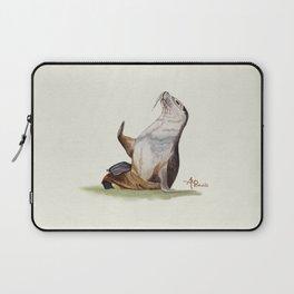 Sea Lion Watercolor Laptop Sleeve