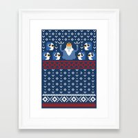 minions Framed Art Prints featuring Ice King and Minions by paperboyjim