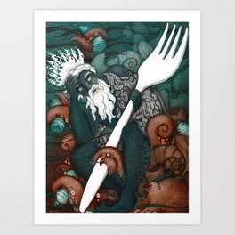Plastic Pollution in the Ocean Art Print