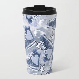 Walking Blue Travel Mug