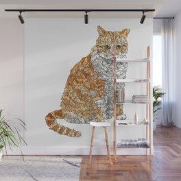 Tabby Bunny Kitty Wall Mural