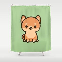 Cute shiba inu Shower Curtain