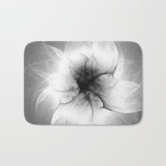 Ghost Flower Fractal Bath Mat