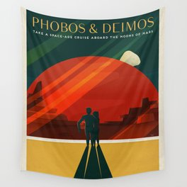 SpaceX Mars tourism poster Wall Tapestry
