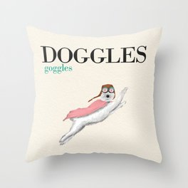 Doggles Throw Pillow
