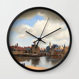 """Johannes Vermeer """"View of Delft"""" Wall Clock"""