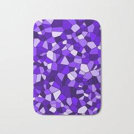 Violet Purple Blue Mosaic Pattern Bath Mat
