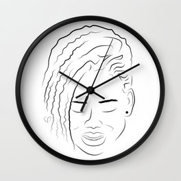 Her Smile Wall Clock