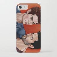 derek hale iPhone & iPod Cases featuring Stiles Stilinski and Derek Hale - Nothing Rhymes With Orange by xKxDx
