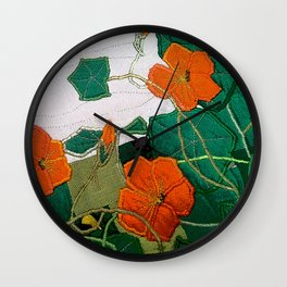Old nasturtium Wall Clock