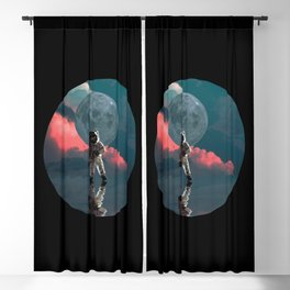 Astronaut Art Blackout Curtain