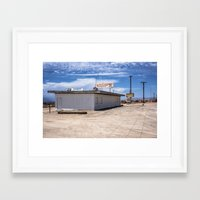 cafe Framed Art Prints featuring cafe by petervirth photography