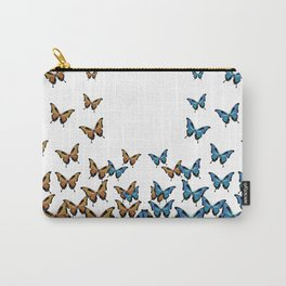 Two Tones Butterfly Carry-All Pouch