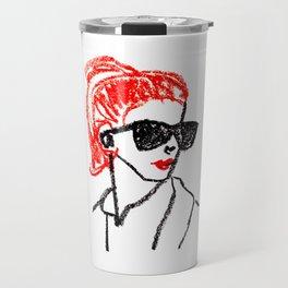 sunglasses and red hair Travel Mug