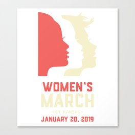 Women's March On Kansas January 20, 2019 Canvas Print