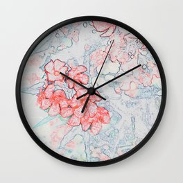 Spring Red Flowers Wall Clock