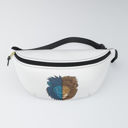 Lion Geometry | King of Jungle | Africa Sahara Fanny Pack
