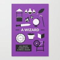 ouat Canvas Prints featuring OUAT - A Wizard by Redel Bautista