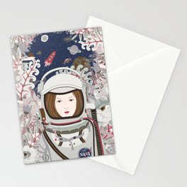 Lady Astronaut Stationery Cards