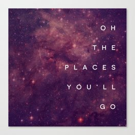 The Places You'll Go I Canvas Print