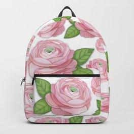 Pink Ranunculus Flower Backpack