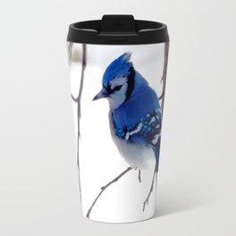 Blue Jay in winter 2 Travel Mug