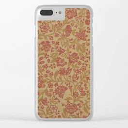 1897 Floral Clear iPhone Case