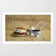 Cream Tea  MMMmmmmmmmm....... Art Print