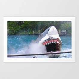 Shark Attack II! Art Print