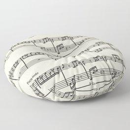 beethoven music pattern Floor Pillow