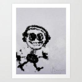 Musik Stickman Art Print