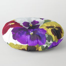 Pansies! Floor Pillow