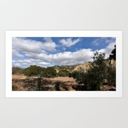 Fenceline to Skyline Art Print