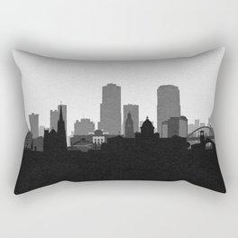 City Skylines: Little Rock Rectangular Pillow