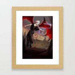 Little devil Framed Art Print