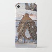 outdoor iPhone & iPod Cases featuring Outdoor hockey rink by RMK Photography