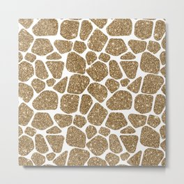 Glitter Giraffe Animal Print Pattern Metal Print