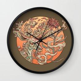 Deer Smoke & Indian Paintbrush Wall Clock