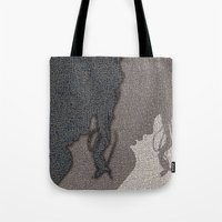 shadow Tote Bags featuring Shadow by dominiquelandau