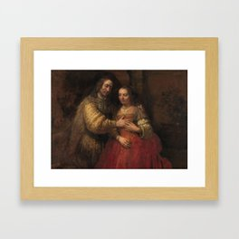 "Isaak and Rebekka, known as ""The Jewish Bride"" - Rembrandt van Rijn (1665 - 1669) Framed Art Print"