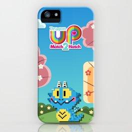 Dragon Up Game 8bit Dragon Flower Background iPhone Case