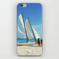 cuba iPhone & iPod Skins featuring Cuba Beach by Parrish