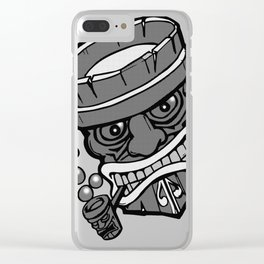 Dots in Tiki Clear iPhone Case