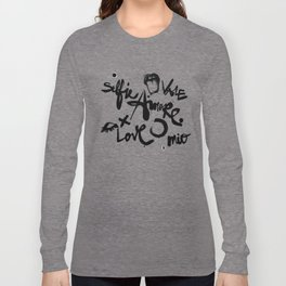 Some love words on the cement background Long Sleeve T-shirt