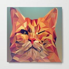 Geometric cat 2 Metal Print