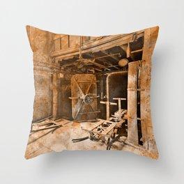 Vintage Acrylic Silk Mill Throw Pillow