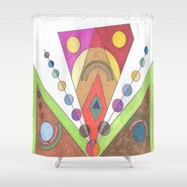Mecha Man Shower Curtain