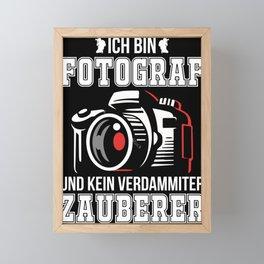 Photographer camera lens photography hobby Framed Mini Art Print