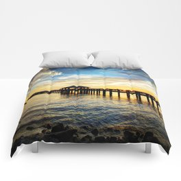 Biloxi Bay Sunset Comforters